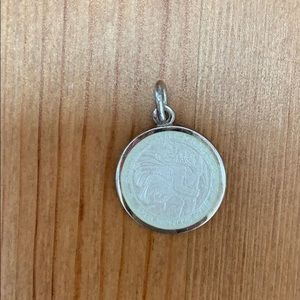 Saint Christopher Sterling and Enamel Charm